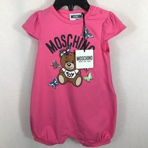Authentic Moschino Baby Girl Toy Bear Romper